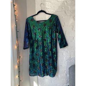 BooHoo Sequin Stars Mini Dress